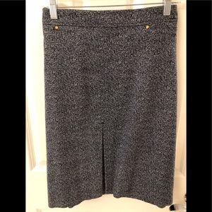 Jones New York Navy Blue Tweed Skirt